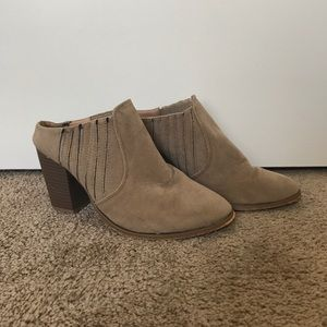 Cute Tan Ankle Booties / heals / boots